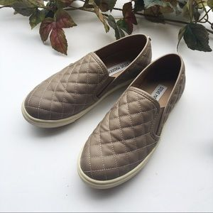 Steve Madden Shoes - Steve Madden Eccentric Quilted Slip On Gray